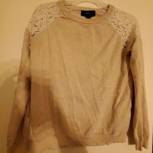 EUC Forever 21 | Lace Sleeve Sweater